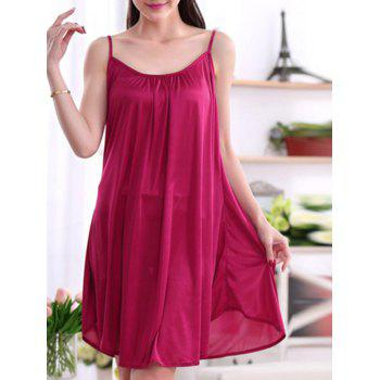 Alluring Women's Pure Color Spaghetti Strap Backless Babydoll