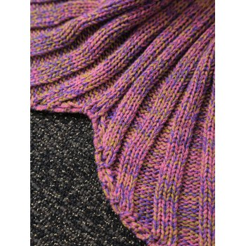 Fashion Knitted Flowers Embellished Mermaid Tail Shape Blanket For Kids -  NUDE PINK