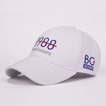 Fashion Letter Stripe Year Number Embroidery Unisex Casual Baseball Hat
