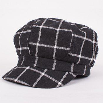 Stylish Gingham Pattern Retro Painter Women's Newsboy Hat