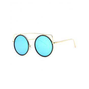 Cute Candy Color Crossbar Round Sunglasses