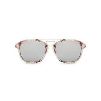 Stylish Geometry Nose Bridge Marble Sunglasses - WHITE