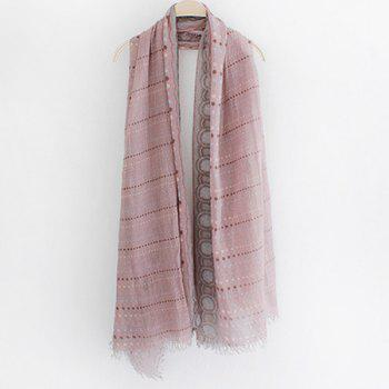 Chic Yunnan Ethnic Style Polka Dot Pattern Fringed Women's Voile Scarf