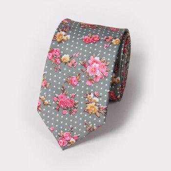 Fashion Tiny Flower and Polka Dot Pattern Wedding Party Tie