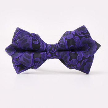 Fashion Paisley Jacquard Double-Deck Bow Tie