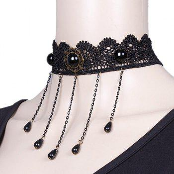Water Drop Hollowed Party Choker - BLACK