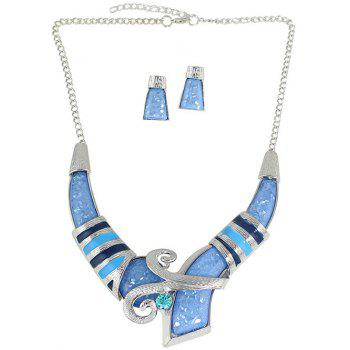 Bohemian Style Rhinestone Necklace and Earrings