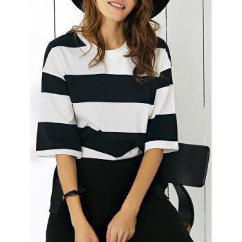 Half Sleeve Striped T-Shirt
