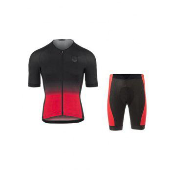 Active Black Shorts + Gradient Color Bike Jerseys Twinset For Men