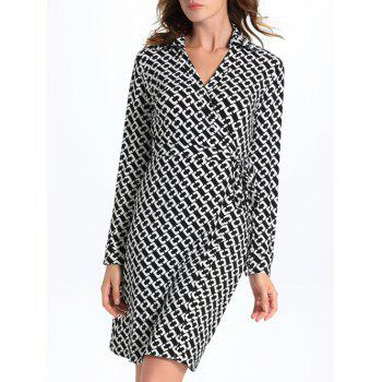 Wrap Formal Geometric Print Dress
