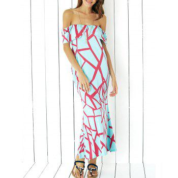 Chic Geometric Print Maxi Dress