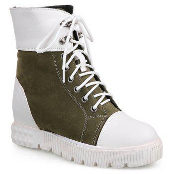 Casual Hidden Wedge and Color Block Design Women's Short Boots