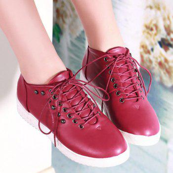 Fashionable Lace-up and Rivet Design Women's Sneakers