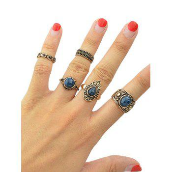 Vintage Water Drop Oval Rings - GOLDEN ONE-SIZE