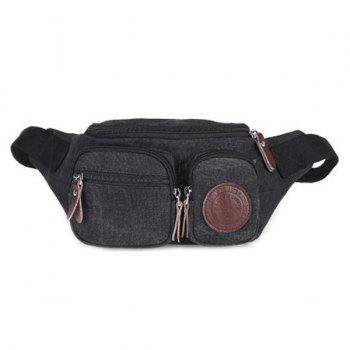 Casual Zippers and Double Pocket Design Men's Messenger Bag