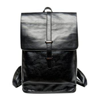Stylish Strap and Black Color Design Men's Backpack - BLACK BLACK