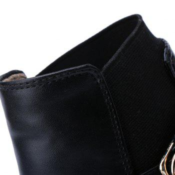 Stylish Black and Pointed Toe Design Women's Ankle Boots - BLACK 38