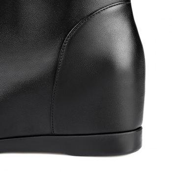 Fashionable Hidden Wedge and Ruched Design Women's Mid-Calf Boots - BLACK 41