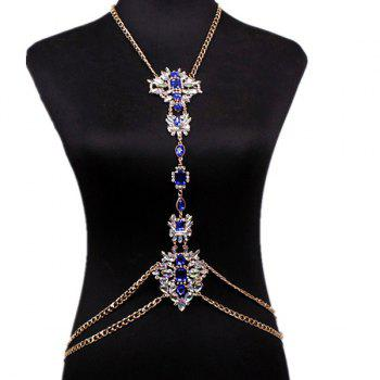Water Drop Rhinestone Body Chain