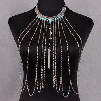 Faux Turquoise Body Chain