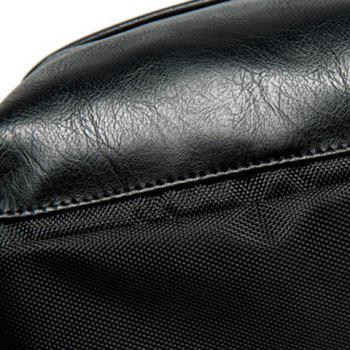 Casual Zipper design Men  's Sac à dos noir et - Noir