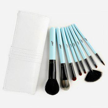 Cosmetic 8 Pcs Goat Hair Fiber Facial Eye Lip Makeup Brushes Set with Storage Package