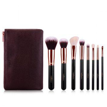 Cosmetic 8 Pcs Goat Hair Fiber Facial Eye Makeup Brushes Set with Brush Bag