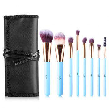 Cosmetic 8 Pcs Fiber Facial Eye Makeup Brushes Set with Brush Bag