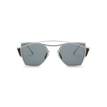 Stylish Crossbar Irregular Sunglasses - SILVER