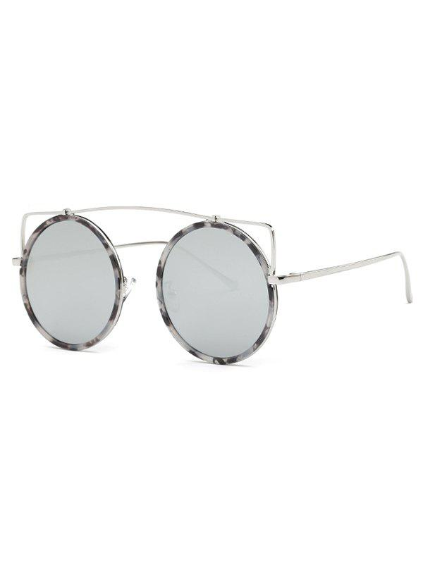 Cute Crossbar Round Marble Sunglasses