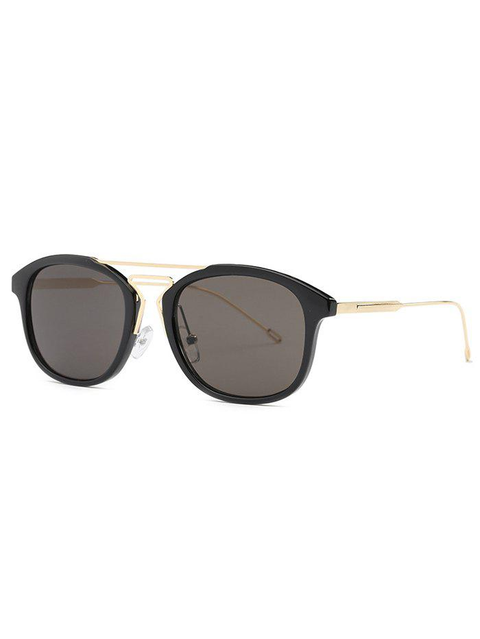 Stylish Geometry Nose Bridge Black Sunglasses