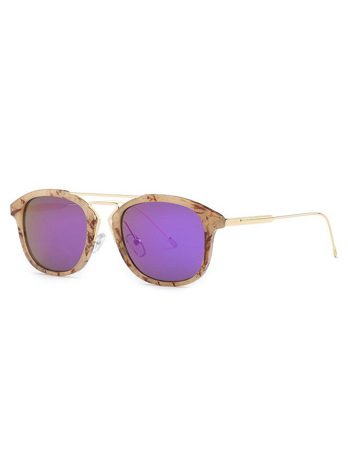 Stylish Geometry Nose Bridge Marble SunglassesAccessories<br><br><br>Color: LIGHT BROWN