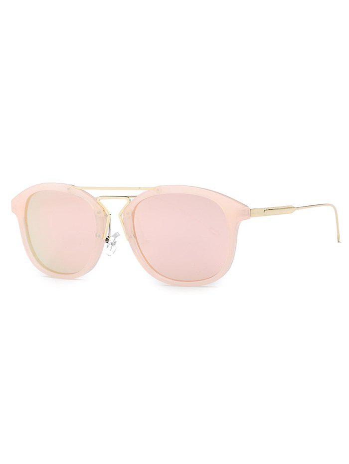 Stylish Geometry Nose Bridge Pink Sunglasses - PINK
