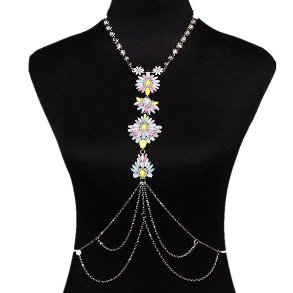 Delicate Blossom Water Drop Body Chain For Women
