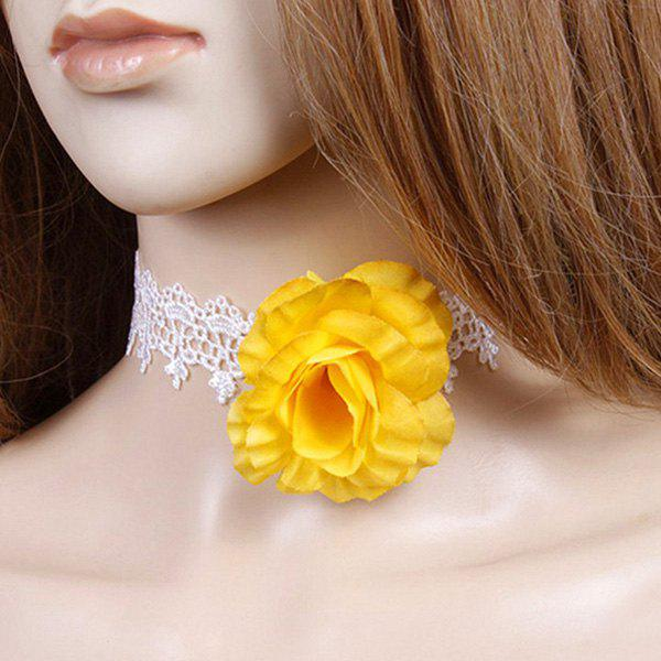 Floral Lace Party Choker - WHITE