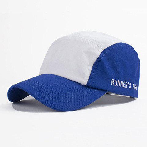 Fashion Simple Letter Embroidery Color Block College Style Women's Baseball  Hat - BLUE
