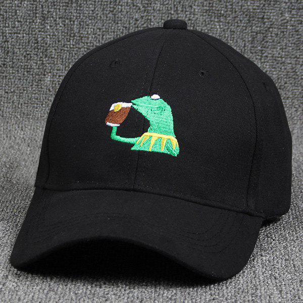 Street Fashion Cartoon Lizard Embroidery Hip Hop Black Baseball Hat