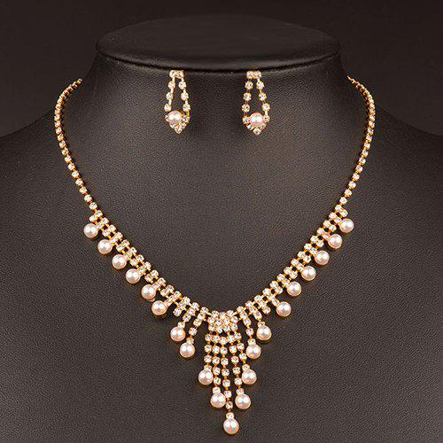 A Suit of Stunning Artificial Pearl Wedding Jewelry Set For Women