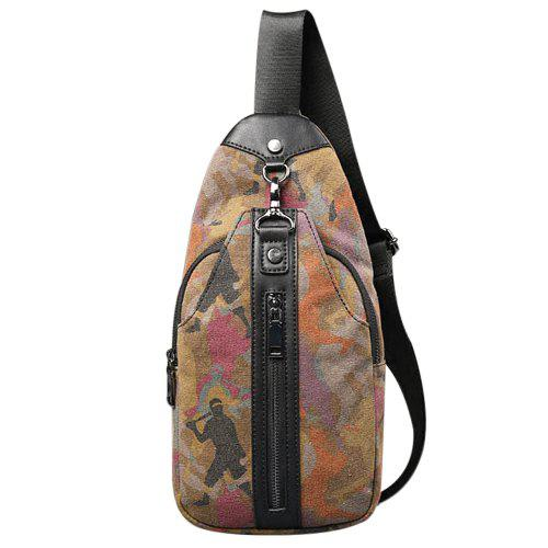 Stylish Camouflage Print and Canvas Design Men's Crossbody Bag - CAMOUFLAGE