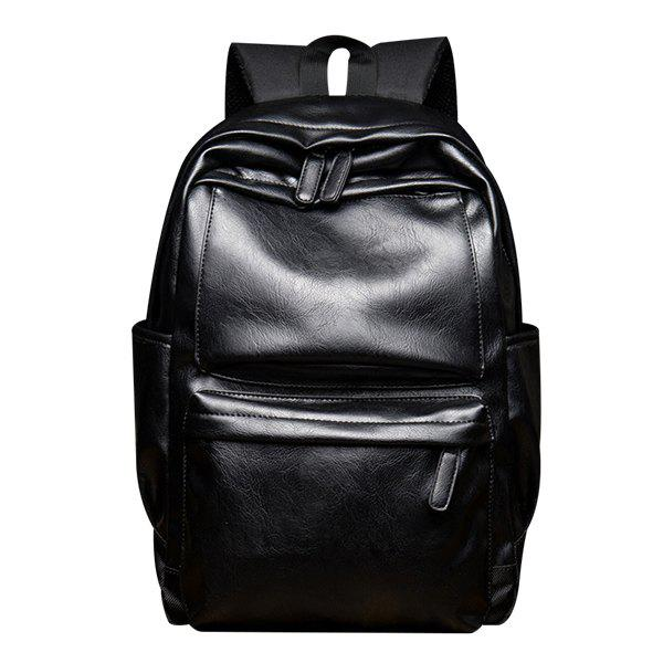 Casual Black and Zipper Design Men's Backpack