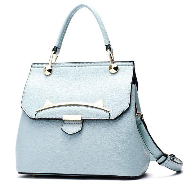 Trendy Metal and Cat Ears Design Women's Totes - LIGHT BLUE