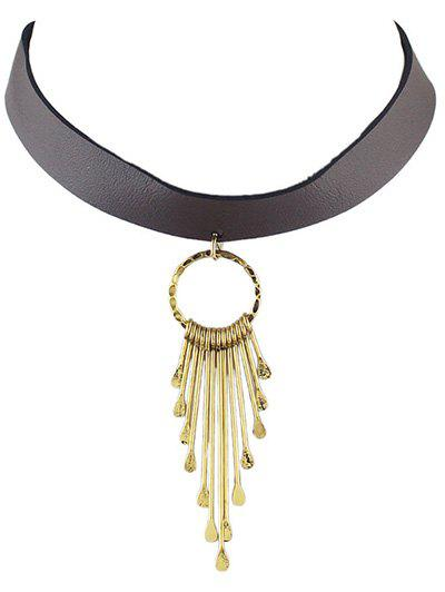 Vintage Geometric Water Drop Choker - GOLDEN