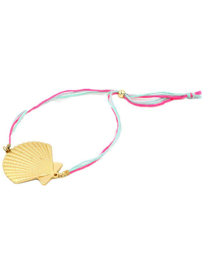 Scallop Charm Anklet - GOLDEN