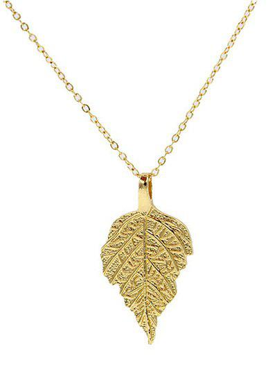Leaf Pendant Necklace - GOLDEN