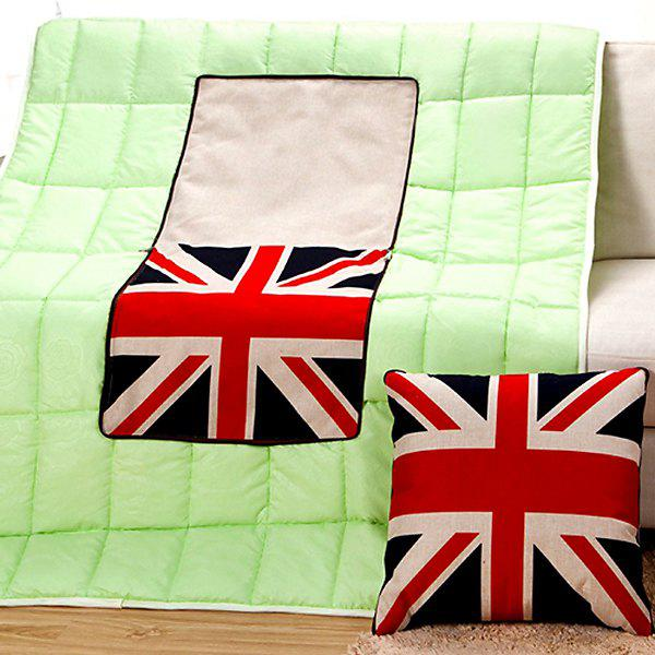 Stylish The Union Jack Pattern Multifunction 2 in 1 Folding Cushion Quilt - COLORMIX