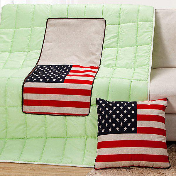 Fashion the Stars and the Stripes Pattern Dual-Purpose Folding Cushion Quilt - COLORMIX