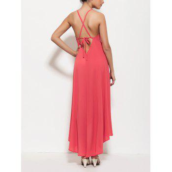 Long Backless Criss Cross Prom Party Dress