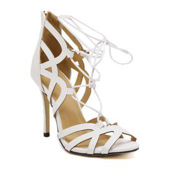 Fashionable Lace-Up and Zipper Design Women's Sandals