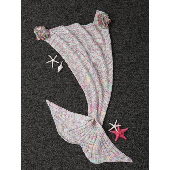 Fashion Knitted Falbala Shape Mermaid Tail Design Blankets For Baby -  COLORMIX