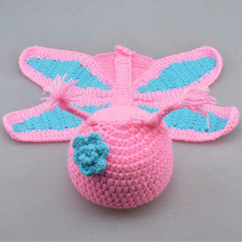 Newborn Baby Crochet Butterfly Photography Clothing Set - PINK